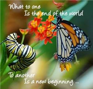 like the End of world is a new beginning