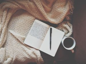 Journaling with tea