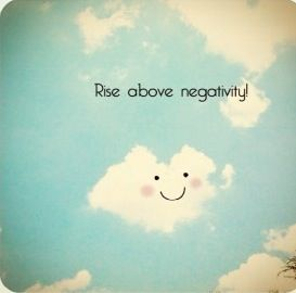 rise above negativity cloud